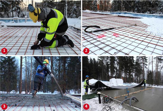 Электротермообработки бетона расход известково цементной раствора на 1м2